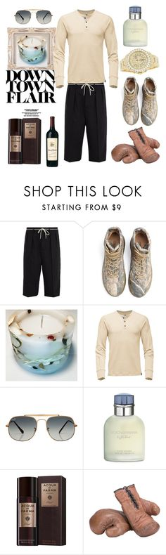 """""""Sports elegance"""" by momentromantique on Polyvore featuring Maison Margiela, Columbia, Yeezy by Kanye West, Rolex, Ray-Ban, Dolce&Gabbana, Acqua di Parma, men's fashion i menswear"""