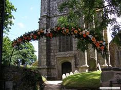Flowers over the church gate for a village wedding. Cornwall, Gate, Cottage, Mansions, House Styles, Gallery, Holiday, Flowers, Wedding