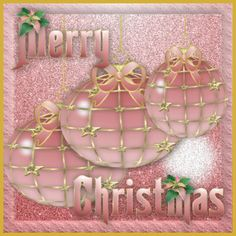 Merry Christmas to all Pinner's who Love the Color Pink