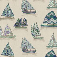 Coastal Wallpaper, Gp&j Baker, Peacock Fabric, Nautical Colors, West East, Beach Fabric, Fabric Display, Teal Walls, Cole And Son