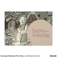 Create your own unique greeting on a Snowman card from Zazzle. From birthday, thank you, or funny cards, discover endless possibilities for the perfect card! Christmas Snowman, Christmas Tree Ornaments, Christmas Cards, Merry Christmas, Vintage Invitations, Invitation Paper, Snowman Cards, Vintage Greeting Cards, Photo Cards