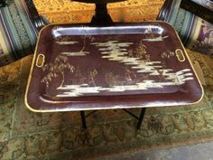 """Asian Decorated Tray Table   Dealer #1924  29"""" Wide x 22"""" Deep x 19"""" High   $125  Lucas Street Antiques Mall 2023 Lucas Dr.  Dallas, TX 75219  Read more: http://dallas.ebayclassifieds.com/tables/dallas/asian-decorated-tray-table/?ad=40437163#ixzz3gUCpkD9W"""