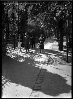 Budapest 1933 Városligeti fasor  Kinszki Imre Budapest, Sidewalk, Street View, Photography, Outdoor, Outdoors, Photograph, Side Walkway, Fotografie