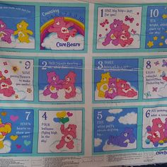 Check out this item in my Etsy shop https://www.etsy.com/listing/273586384/care-bear-fabric-book-panel