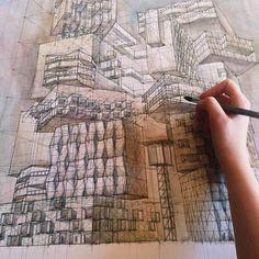 "asweetheartbeing40: "" archatlas: ""  Milyausha Garaeva "" Wow!!! Amazing architectural illustrations!! """