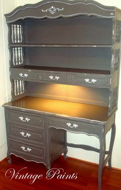 french provincial desk | French Provincial Desk, Cool Chest of Drawers, Craft Shelves & The ...