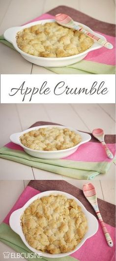 Apple Crumble - a heavenly pleasure - Dessert-Ideen - Kuchen Easy Cake Recipes, Apple Recipes, Sweet Recipes, Baking Recipes, Dessert Parfait, Eat Dessert First, Food Cakes, Love Food, Food Inspiration