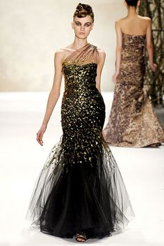 Monique L'Huillier tulle glitter gown with asymmetrical neckline. -- Grace Ormonde Wedding Style