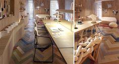 Color en tu suelo de madera|Espacios en madera