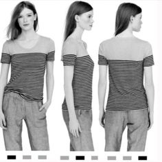J. Crew | 100 % Linen Hot Pink Stripe Tee J. Crew | 100% Linen Striped Shirt • super soft 100% linen striped in hot pink • no flaws • first picture from J. Crew for fit & style reference • the actual color is hot pink & white • sold out online • J. Crew Tops
