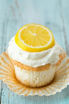 Lemon Angel Food Cupcakes | Cooking Classy