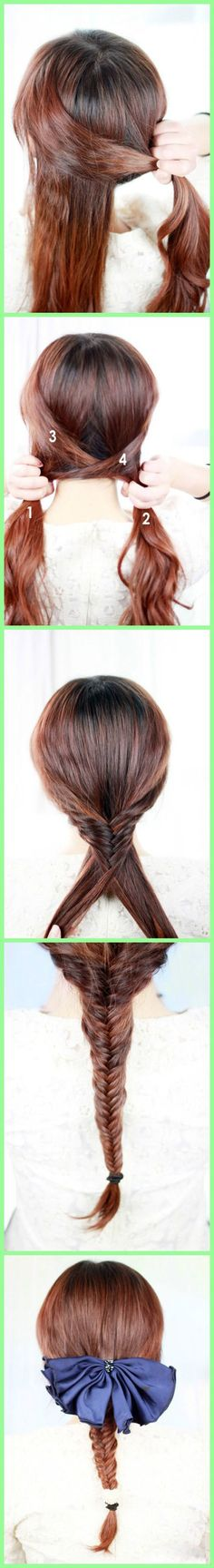 would you ruin this pretty braid with that giant, ugly bow? hmm?!