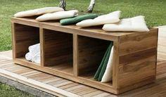 Cassapanca moderna / da giardino / in legno TURTLE Menotti Specchia