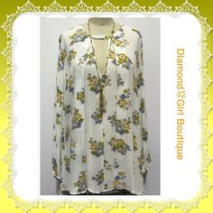 Beautiful Floral Boho Dress Soft flowy rayon dress/ tunic, depending on height, features a keyhole front, hi- lo hem, looks great with tights and boots or in warmer weather just boots, available in S/M/L... Dresses Mini