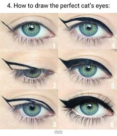 How to draw the perfect cat eye