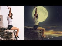 In this Tutorial, Learn How To Change a Photo Background Perfectly Photo manipulation in Photoshop. This Photo Manipulation tutorial you'll learn how to crea. Learn Photoshop, Photoshop Tutorial, Adobe Photoshop, Photo Manipulation Tutorial, Simple Photo, Change Background, Night Photos, Photo Retouching, Photo Effects