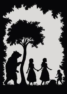 Heidelberg: Fairy Tale Postcards - Laura Barrett - London Based Freelance Silhouette Illustrator - Illustration Portfolio