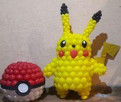 Pokemon Party, Pokemon Birthday, 7th Birthday, Birthday Parties, Pikachu, Pokemon Balloons, Balloon Decorations, Balloon Ideas, Balloon Cartoon