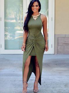 Bodycon Double-Layered Women's Maxi Dress #Dress