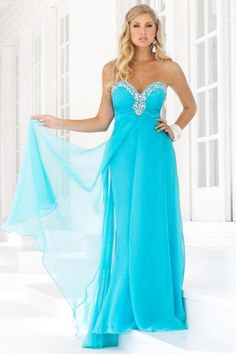 Elegant Prom Dresses, 2012 Elegant Empire Sweetheart-neck Brush Light Blue Prom Dresses Style 9388-11