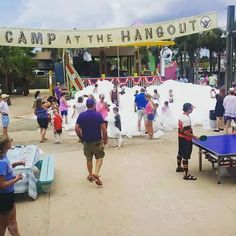 """Goot lort they going crazy with the bubbles at """"The Hangout"""",  #alabama #bubbles #gulfshores #orangebeach #thehangout"""