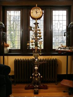 The Whimsical Lady: Steampunk Floor Clock.  I wonder how long it would take me to collect enough gauges to have this made??  And how long it would take Jay to make it??
