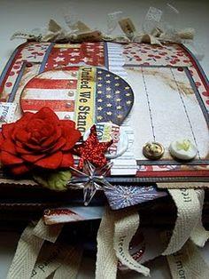 Patriotic Paper Bag Album
