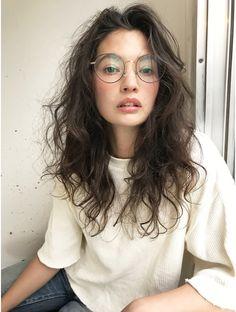 Asian Hair Perm, Curly Asian Hair, Long Curly Hair, Curly Hair Styles, Permed Hairstyles, Trendy Hairstyles, Long Perm, Wavy Bob Long, Digital Perm