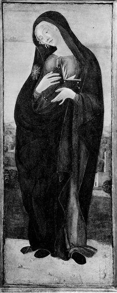 The Virgin Annunciate. about 1477–80 (?) Neroccio di Bartolomeo de'Landi (Italian (Sienese), 1447–1500). Museum of Fine Arts Boston.