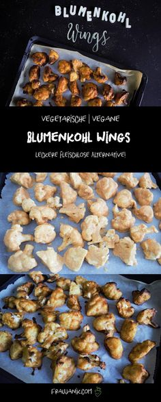 Chicken Wings ohne Chicken??!! Ja! -> BLUMENKOHL WINGS! Mal eine andere Art Gemüse schmackhaft an die Kids zu bringen oder an die Frau/ den Mann?! Mhmm eine tolle Alternative!