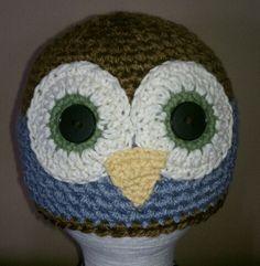 Brown & Blue bird. 1-3 yrs. $20  80% Bamboo blend yarn