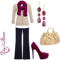 Love this outfit for work, though I'd want more sensible shoes (Berry Pretty, created by zionsmama on Polyvore)