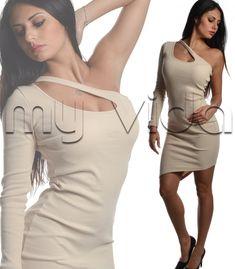 09efe258ef1f Miniabito tubino sexy scollatura laterale. Mini abito donna ...