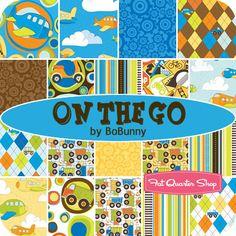 On the Go Yardage BoBunny for Riley Blake Designs.     How many quilts are too many for the grandchild I love soooooooo much?