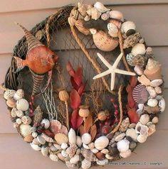 Beach Wreath!! Lots of shells.