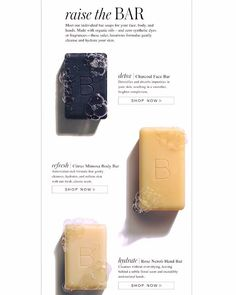 Charcoal Bar rids skin of impurities. Mimosa Body Bar is moisturizing enough for everyday use. Hand soap is a lovely treat. beautycounter.com/hopehall