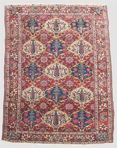 Bakhtiari rug   west persia, circa 1940   6 ft. 10 in. x 4 ft. 9 in. - FREEMAN'S