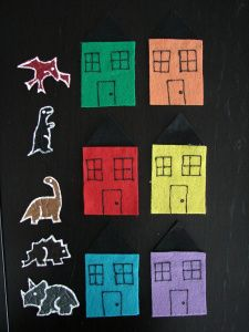 Dinosaur, Dinosaur, Are You Behind the (color) Door? from Thrive After Three
