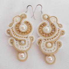 Soutache Earrings Elegant Soutache Earrings, Drop Earrings, Jewels, Jewellery, Elegant, Simple, Handmade, Things To Sell, Classy