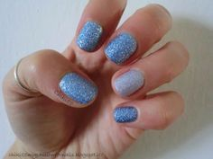 CHIKI88...  my passion for nails!: Light blue accent manicure!