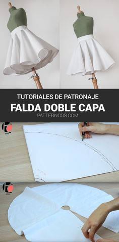 How to do a double circular skirt tutorial Kids Dress Patterns, Skirt Patterns Sewing, Clothing Patterns, Coat Patterns, Circle Skirt Patterns, Blouse Patterns, Circle Skirt Tutorial, Pattern Skirt, Fashion Sewing
