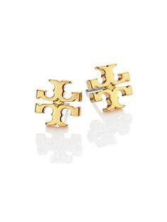 Tory Burch - T-Logo Stud Earrings/Goldtone