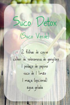 Suco verde detox!