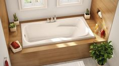 Modern Bathtub Covering Ideas to Brighten Up Your Bathroom Design A bathroom tub that has a covering on its front side adds a beautiful and neat look to a modern bathroom Modern Bathtub, Modern Bathroom Design, Bathroom Interior, Bathroom Designs, Bathtub Designs, Interior Paint, Bathtub Alcove, Built In Bathtub, Wood Bathtub