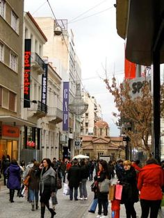 Athens, Ermou Street. Shopping central :)
