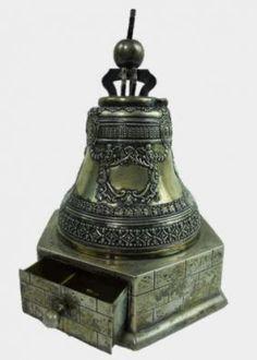 19th C. Russian Silver Figural Inkwell, Tiffany  www.JJamesAuctions.com