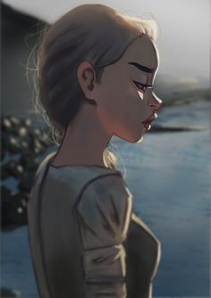 ArtStation - Girl by the rocks., Sarah Hassan