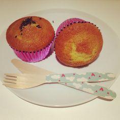 Muffins rellenos de nocilla
