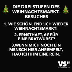 Die Drei Stufen des Weihnachtsmarktbesuches