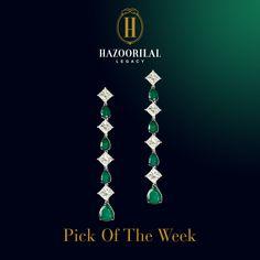 #PickOfTheWeek: The stars have never shined so bright.  #HazoorilalLegacy #Hazoorilal #Jewelry #Emerald #Diamond #Earrings